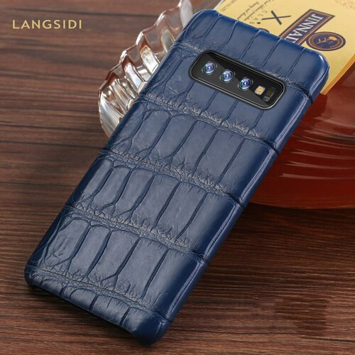 Luxury Natural Crocodile Leather case For Samsung Galaxy s10 SE S9 S8 S7 plus marvel Armor cover For Samsung Note 8 9 a50 a70