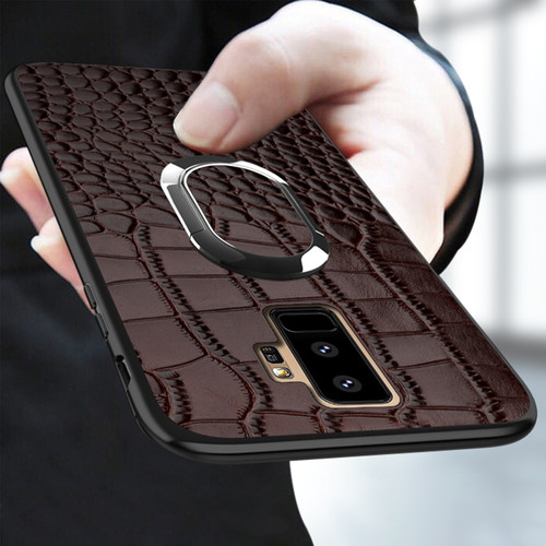 Real leather Case For Samsung Galaxy a50 a70 a30 a8 a7 2018 Note 10 9 Luxury Magnetic Kickstand back cover For s10 s9 s7 s8 Plus 1