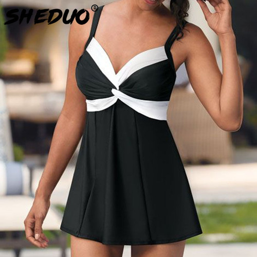Plus Size Two Pieces Swimsuits Swimwear women Black&white Summer Large Bathing Suits Padded Beachwear Sexy backless new arrival