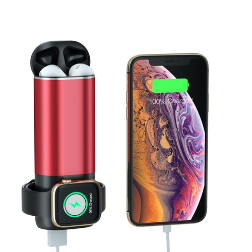 3 in 1 Portable Mobile Phone Charger 5200mAh Power Bank for Phones Powerbank Wireless Charging for AirPods Apple Watch 4 3 2 1
