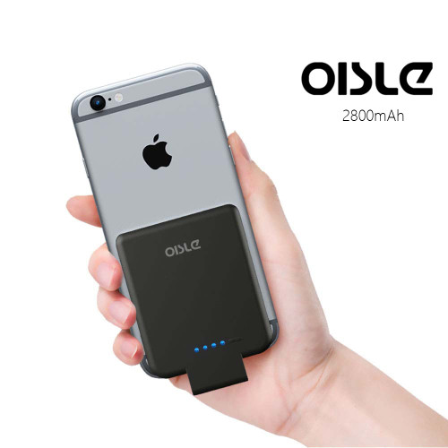 OISLE2800mAh Battery Charger Case For iPhone 8/7/6(s) 5 5s SE, Ultra Slim Power Bank External Pack Backup Portable Charging Case
