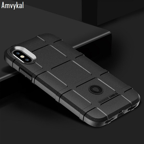 Amvykal For iphone XR X XS Max 6 7 8 Samsung S9 S10 Plus S10e Soft Silicone Cover Rugged Shield Shockproof Armor Protective Case 1