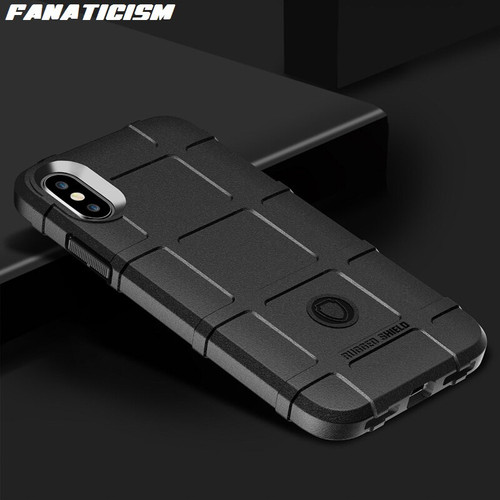 Fanaticism Luxury Rugged Shield Armor Cover For iphone XR X XS Max 6 7 8 Samsung S9 S10 Plus S10e Shockproof Soft Silicone Case 1