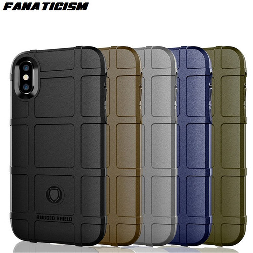 Fanaticism Luxury Rugged Shield Armor Cover For iphone XR X XS Max 6 7 8 Samsung S9 S10 Plus S10e Shockproof Soft Silicone Case