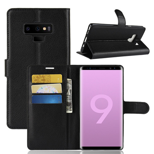 10pcs Flip PU Leather Litchi Pattern Case For Samsung Galaxy S10 E S9 S8 Plus Note 9 8 Holder Kickstand With Card Slot Cover