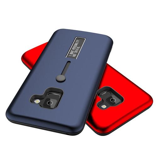 10pcs Hybrid PC + TPU Finger Loop Strap Case For Samsung Galaxy S10 E S9 S8 Plus Note 9 8 A8 A6 Plus Matte Anti-Scratch Cover