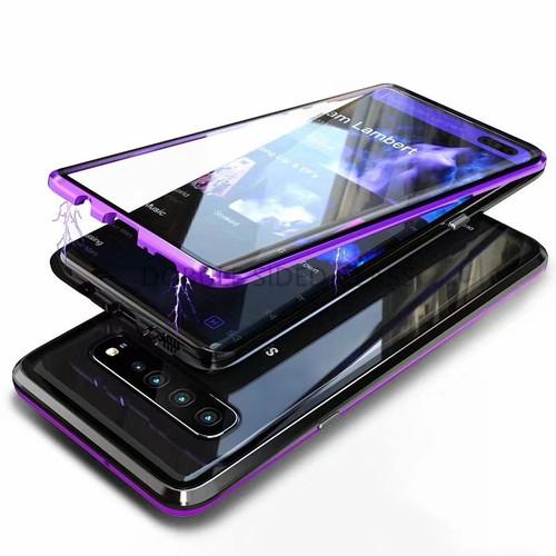 For Samsung S10 5G Magnetic Case Second-Generation Double-Sided Glass Mobile Phone Case Suitable For S10 Metal Frame Case