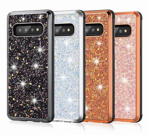 Hybrid Glitter Armor Case for Samsung Galaxy S8 S9 S10 Plus S10E j4 j6 j8 2018 A6 Plus A7 2018 Note 8 9 Shockproof Bling Cover