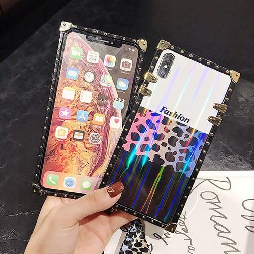 Selfan women fashion Leopard case For iPhone 6 s 7 8 Plus XS XR XSMAX Samsung S8 S9 S10 plus Note 9 Hard Coque case trunk Fundas