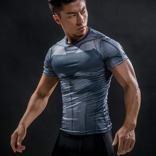 Batman VS Superman T Shirt Tee 3D Printed T-shirts Men Short Raglan sleeve Fitness Cosplay Costume DC Film Slim Fit Tops Male