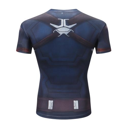 Marvel Avengers 4 Endgame Captain America t shirt Summer tshirt 3d print Superhero compression shirt Sweatshirt Fitness clothing
