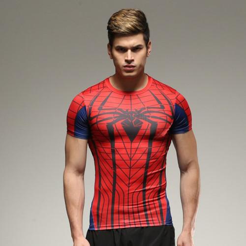 Hot sales 2017 NEW Men Fitness Tights Quick Dry Fit T Shirt 21 Colors pro combat tops