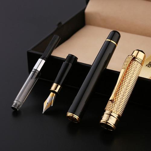 Golden Cap Iraurita fountain pen 0.5mm ink pens for writing caneta tinteiro Stationery Office school dolma kalem 1029