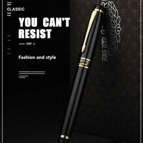 Hero 1501 Golden Eagle Fountain Pen Standard F nib Black bag packing high-grade gift pen
