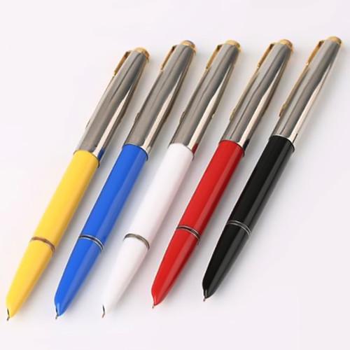 Authentic Quality HERO 616 Classic Nostalgic Fountain Pen 616-2 Golden Clip / Cap Ink Pen Iridium Fine Nib 0.5mm for Student