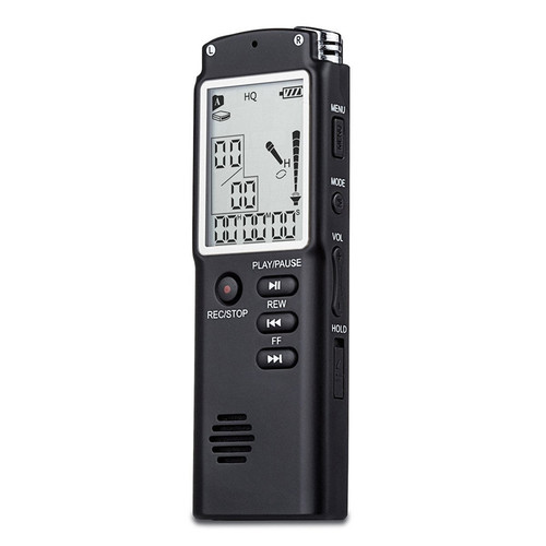 8GB/16GB/32GB High-Quality Digital Audio Voice Recorder a key lock screen Telephone Recording Real Time Display with MP3 Player