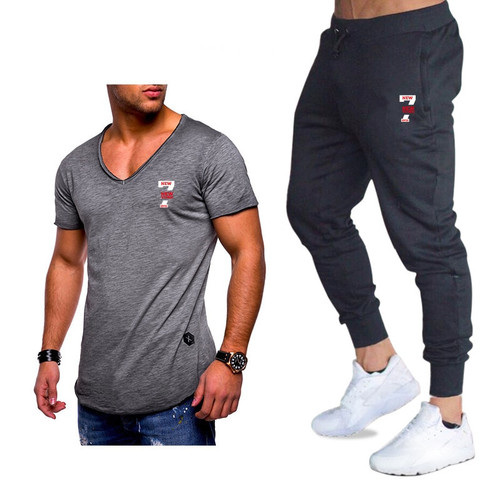 Classic Brand Sets New Summer Men T Shirts+pants Sets Summer Hot Sale Cotton Comfortable Short Sleeve Tshirt men Casual Set Pant