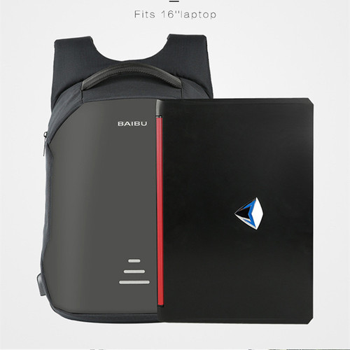 Functional Bag Men Anti Theft Laptop Backpack Urban USB Charging Business Travel Computer Bag Waterproof Minimalist Mochila