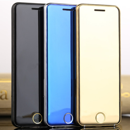 Original Ulcool V6 V66 Luxury Super Mini Ultrathin Card Phone 1.67'' Mobile Cellphone Bluetooth Dialer Free Case+earphone