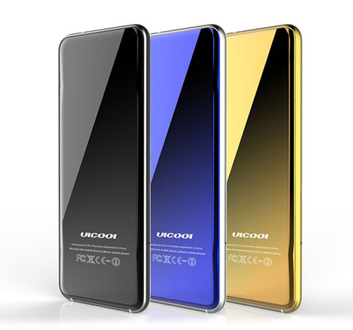 Original Ulcool V6 V66 Luxury Super Mini Ultrathin Card Phone 1.67'' Mobile Cellphone Bluetooth Dialer Free Case+earphone