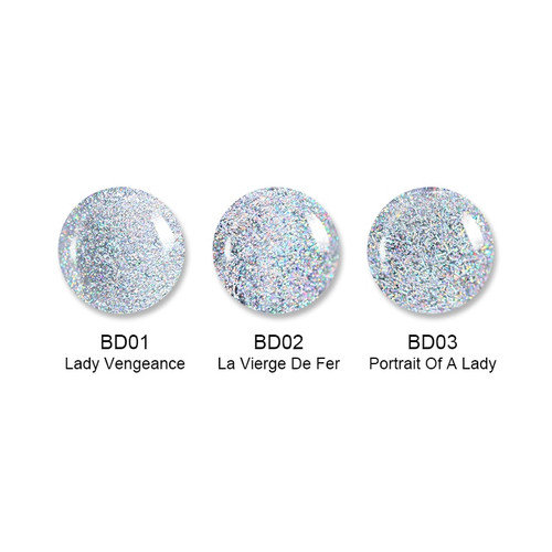 BORN PRETTY 6ml Holographic Top Coat Nail Polish Shimmer Glitter Sequins Varnish Holo Laser Nail Art Lacquer