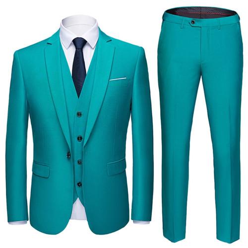 Suit Men 3 Pieces (Blazers+ Pants +Vest) Social Suit Men Fashion Solid Business Suit Set Casual Formale Suits Plus Size S-6XL