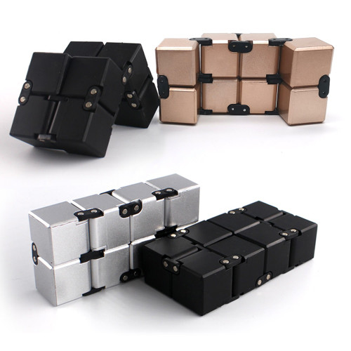 Original Infinity Cube Antistress Include Metal High Quality EDC Creative Antistress Cube Toy Hand Spinner Adult ADHD Oyuncak
