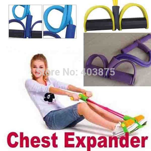 Slimming Products belt slimming massager Yoga Chest Expander Resistance Band  Fitness Equipment T-shaped Foot Force Expander