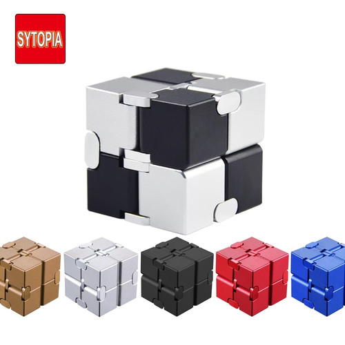 Metal Infinity Magic Cube Toys Finger Fidget Antistress Anxiety Relaxing Neos Trending Cube High Quality Gift For Boys Girls Men
