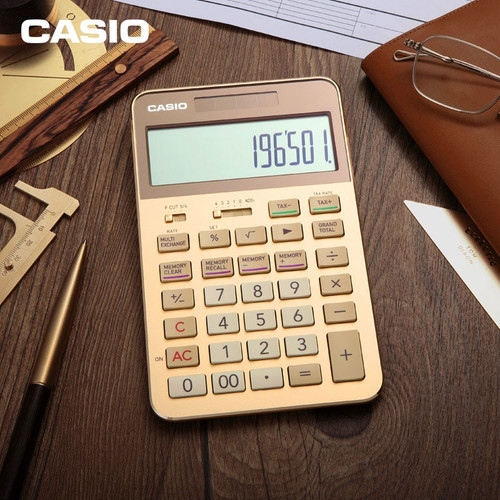 Casio Calculator S200 High-end Gift Business Gift Box Memorial Office Business 12-digit Large Screen Display Number