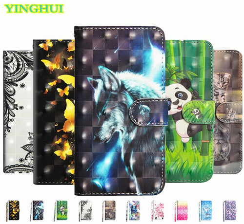 For Lenovo A 2016A40 Case 3D Bling Cartoon Cute Panda Leather Back Cover Case For Lenovo Vibe B A2016 A40 A 2016 Flip Phone Bag