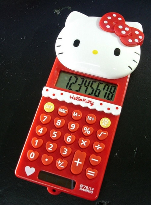 New Cute Stretch HelloKitty Basic Electronic Calculator 8 Digitals KX-S508