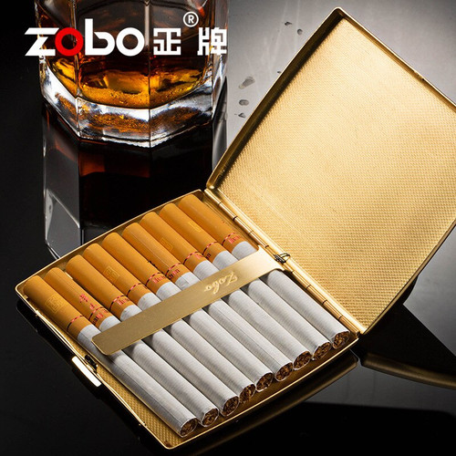 Lighters and Smoking Accessories, The metal cover of the portable creative moisture-proof cigarette case,