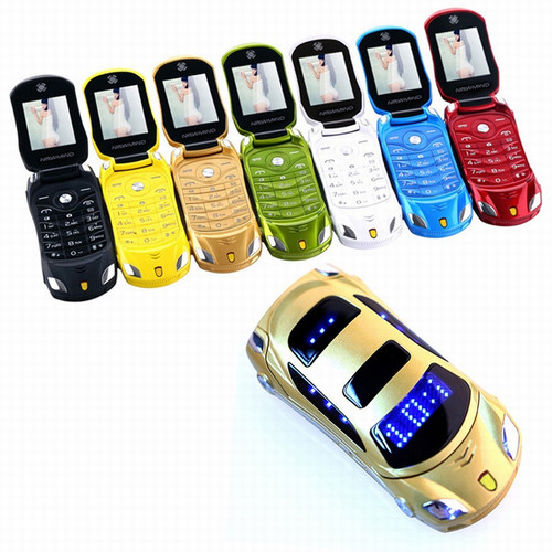 Newmind F15 Car Model Flashlight Dual Sim Cards Mp3 Mp4 FM Radio Recorder Flip Cellphone Car Model Mini Cell Mobile Phone P431