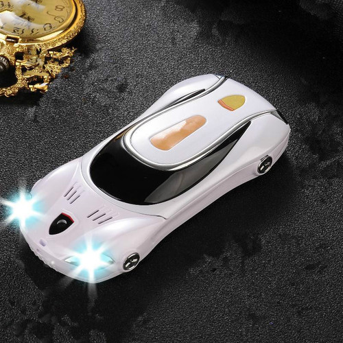 Mini Metal Body Mobile Cell Phone F1 F1+ Cute Car Phone With Dual Sim Cards Led Light MP3 MP4 FM Support Russian Keyboard