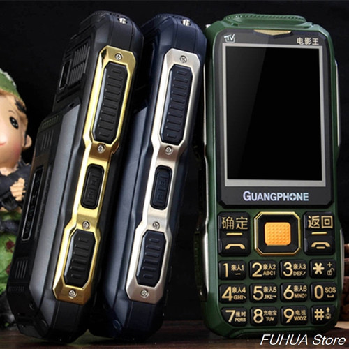 Analog TV Rugged Mobile Phone D8200 Touch Screen Big Keyboard Loud Voice 16800mAh Dual Flashlight Dual SIM Cellphone Power Bank