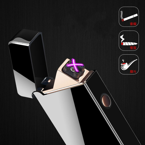New Double Arc Plasma Cigarettes Lighter Windproof Rechargeable Electric Metal Pulse Flameless Lighters Gadgets Gift for Men