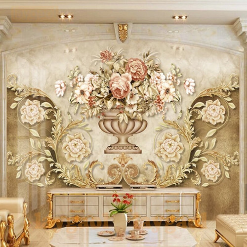 Custom Mural Wallpaper For Bedroom Walls 3D Luxury European vintage floral  Background Wall Papers Home Decor Living Room