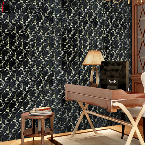 Hot Sale Waterproof 3D Foam Wood Grain Wall Sticker Self Adhesive Wallpaper for Bedroom Living Room Retro Home Decor Wall Panels