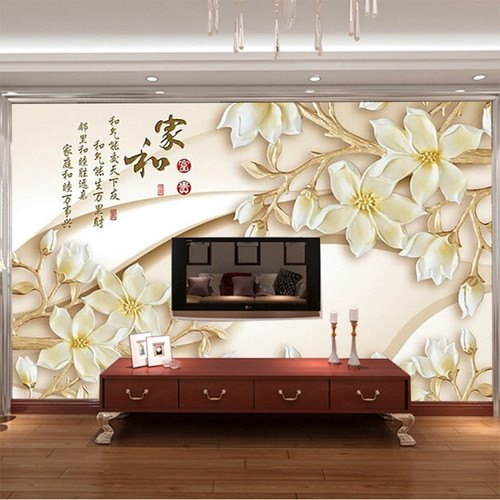 3D Custom Wallpaper Wood carving flower Wall Mural Luxury photo wallpaper Art Room decor Boys Kids Girls Bedroom Sitting room