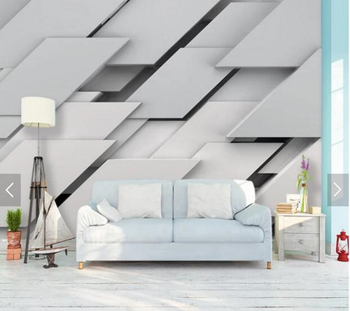 Custom papel de parede 3d, solid geometry quadrilateral mural for living room bedroom sofa background wall decoration wallpaper