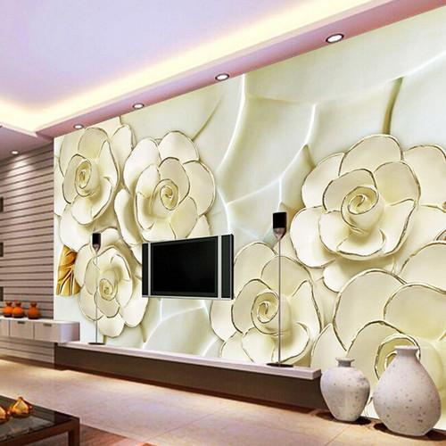 Custom 3D Wallpaper, the atmosphere of the flower murals for the living room bedroom TV background wall vinyl papel de parede