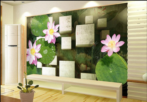 luxury wallpaper customize 3d photo mural wallpaper Lotus wallpaper for bedroom walls 3d wallpaper modern