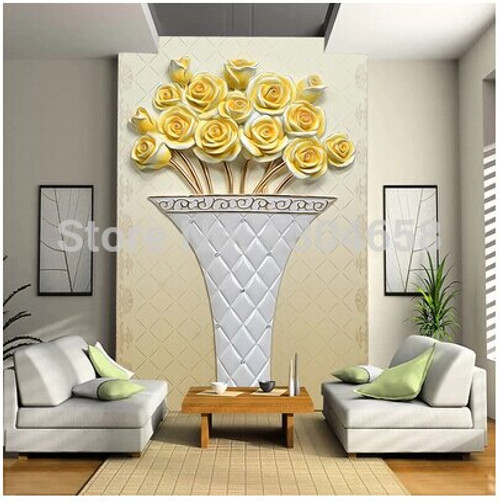 Custom retro wallpaper, floral murals for the living room bedroom hotel restaurant background wall PVC wallpaper