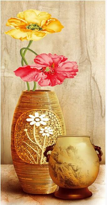 Custom 3D wallpaper. Fresh and elegant vase and flowers for the living room bedroom background wall mural vinyl papel de pared