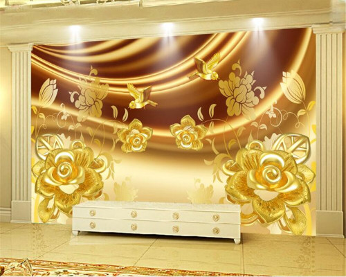 Beibehang Custom wallpaper luxury jewelry rose background wall living room bedroom TV background mural photo 3d wallpaper