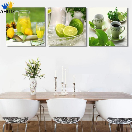 2018 New Printed spray painting wall pictures for kitchen 3 Panel Canvas Art Fruits Modern living room decoration CF013