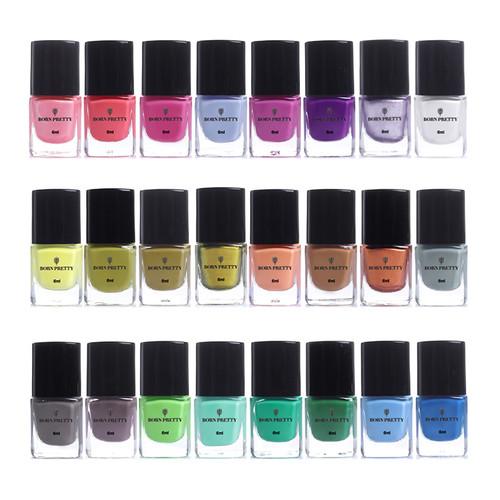BORN PRETTY 6ml 24 Bottles Nail Stamping Polish Colorful Nail Art Plate Printing Polish Varnish Lacquer Nail Art Manicure Paint