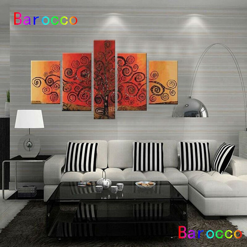 Fashion Frameless Hand-painted Modern Wall Decor Art Abstract Oil Painting On Canvas By Numbers Home Deco Art Picture Paintings