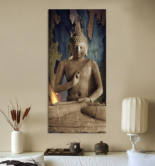 HD Print Brown Religion Buddha Oil Painting on canvas art print home deco wall art picture living room decor painting\C-270